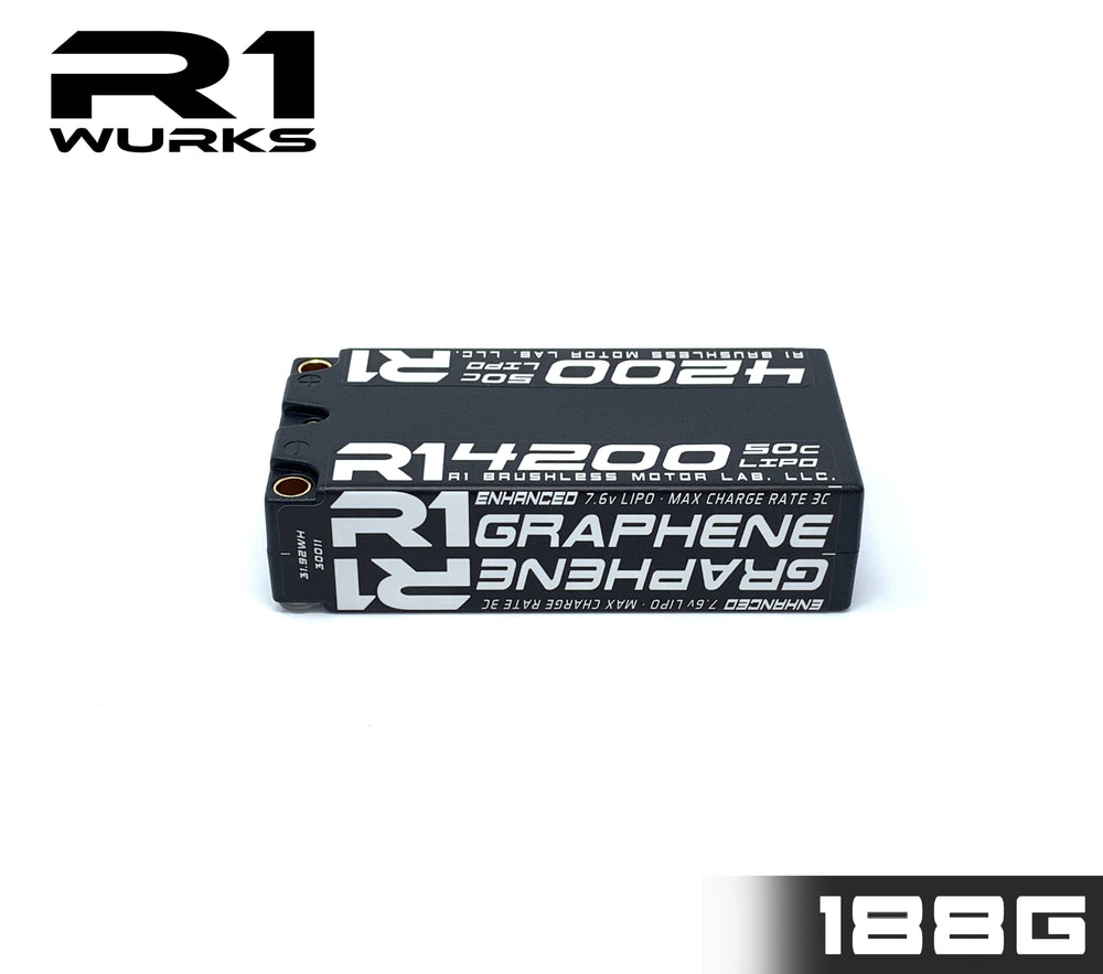 R1 4200mah 50C 7.6V 2S LIHV Enhanced Graphene Shorty Battery 030011
