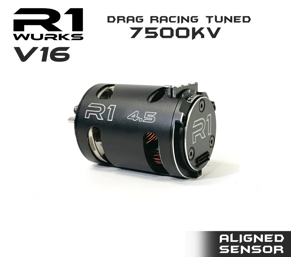 R1 4.5T V16 Drag Racing Tuned 7500kv Motor w/ Aligned Sensor 020109-1