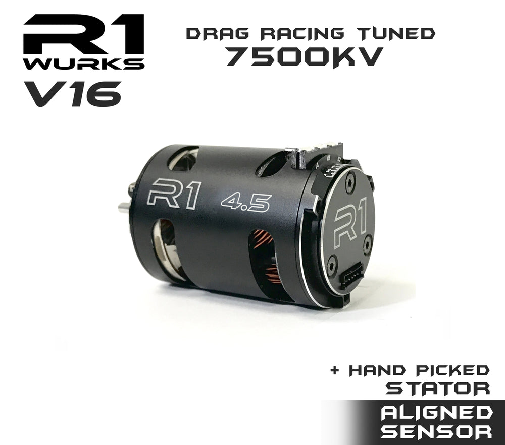 R1 4.5T V16 Drag Racing Tuned 7500kv Motor w/ Aligned Sensor + Hand Picked Stator 020109-5