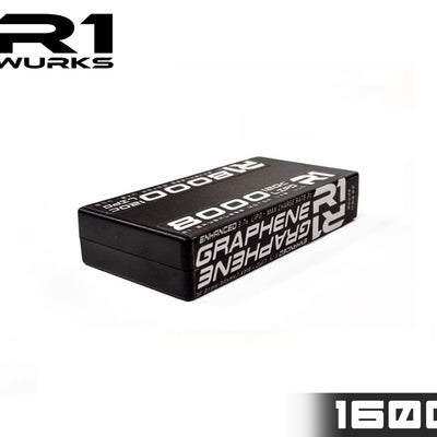 R1 8000mah 120C 3.7V 1S LIPO<BR>Enhanced Graphene Battery 030008 D2