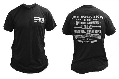 "R1 ""CHAMPION"" SHORT SLEEVE T-SHIRT - R1 Brushless Motor Lab, LLC."