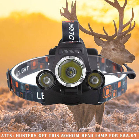 5000 LED Headlamp-Beyond The Outdoors