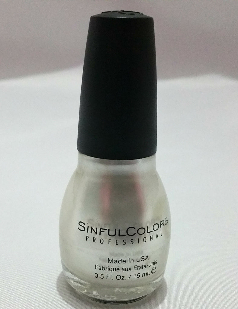 Sinful colour Silvery shimmer nail polish