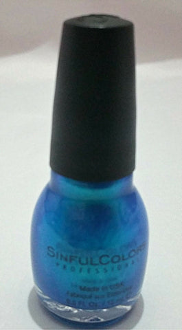 Sinful colors Aqua blue nail polish