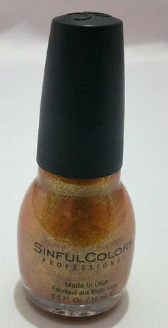 Sinful colours gold colour nail polish