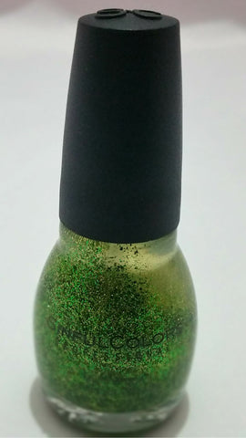 Sinful colors shimmery gold/green nail polish
