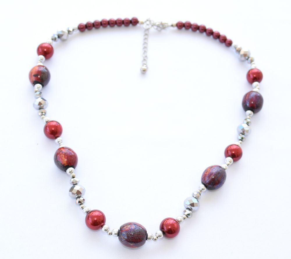 FF10 Cranberry crystal necklace