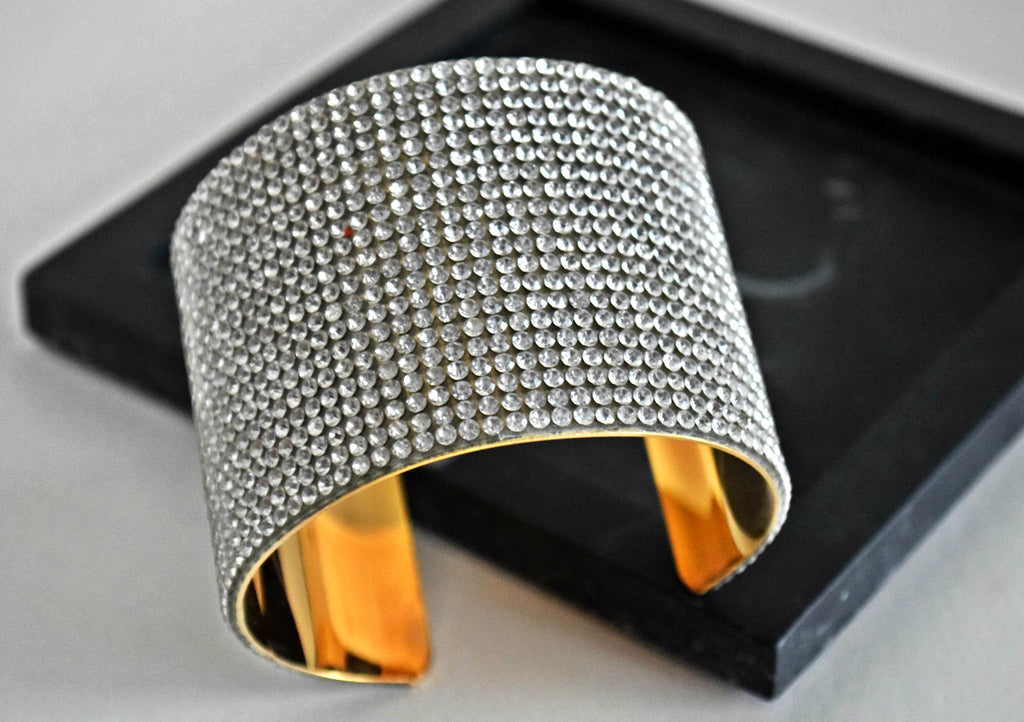 BR73 Hot glamourous crystal open cuff bracelet