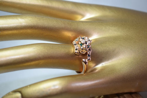 RG3 Fancy 18K Rose Gold Plated leopard ring