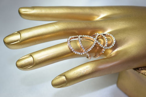 RG29 Fashionable Rose gold plated infinity ring