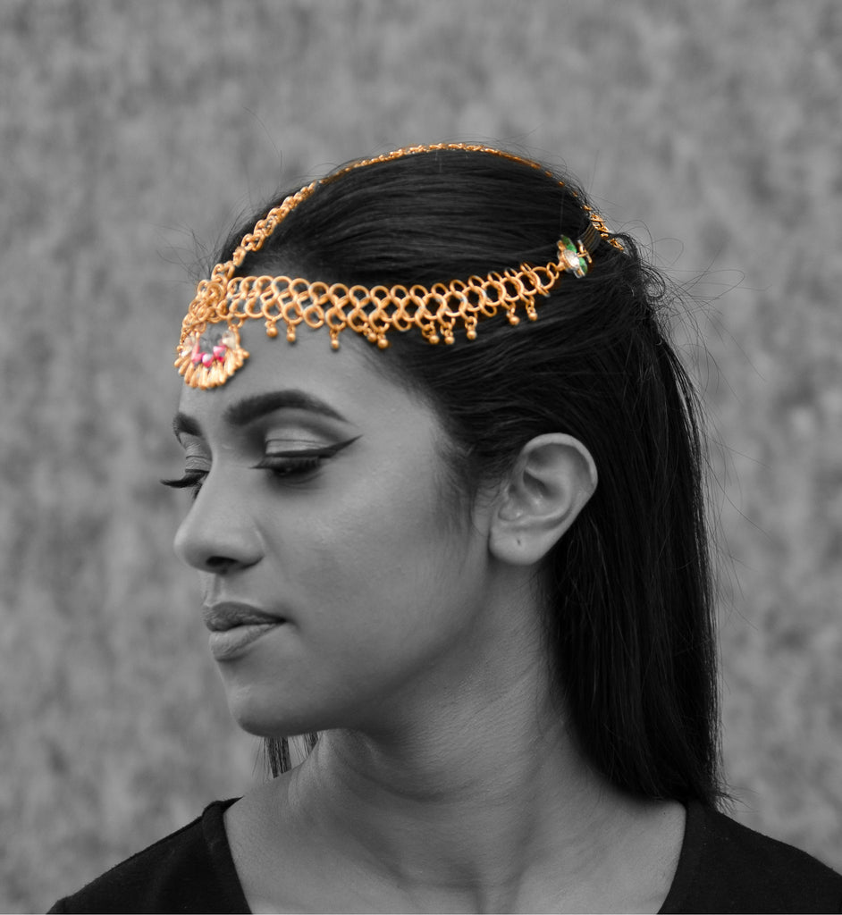 HB6 Punk bohemian gold headpiece
