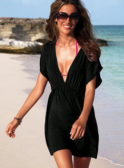 BW1  Nylon Swimwear Bikini Cover Up Beachdress
