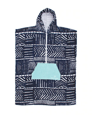 LADIES FRONT ZIP HOODED PONCHO