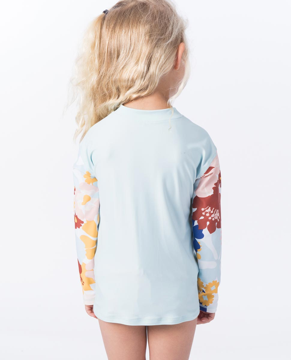 MINI COCONUT TIME ZIP LS RASHSHIRT