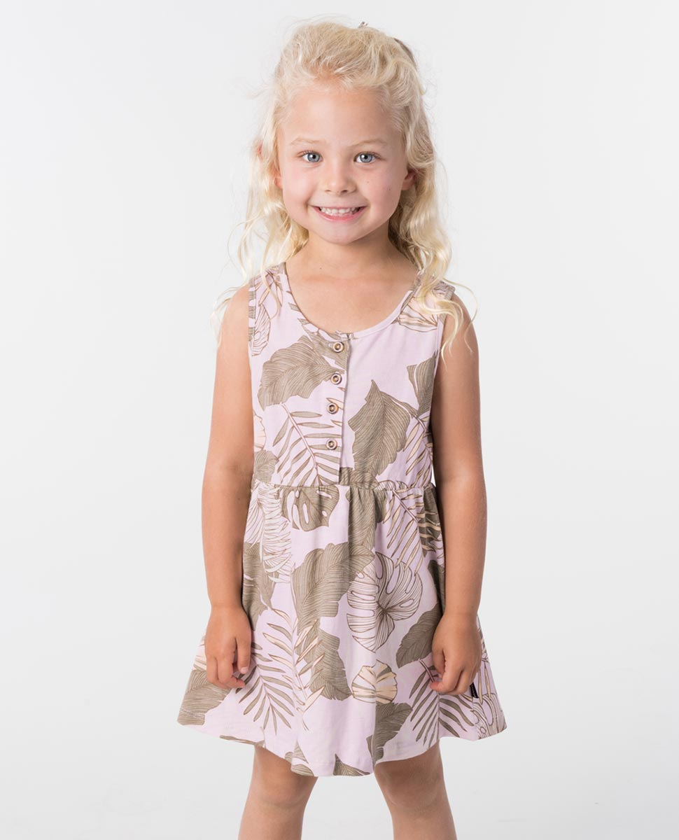 GIRLS MINI PALM COVE DRESS LILAC