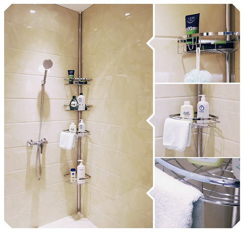 4 Tier Tension Shower Pole Caddy