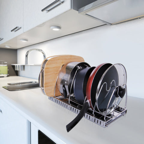 Lifewit Adjustable Pan Rack Pot Lid Holder