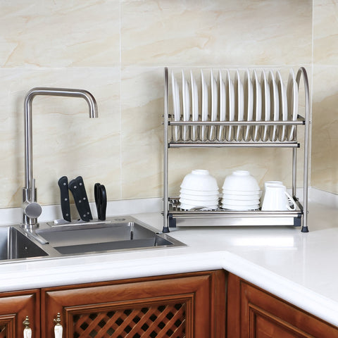 Lifewit Stainless Steel 2-Tier Dish Rack