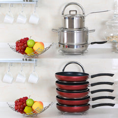 LLifewit 5-Tier Adjustable Stainless Steel Pan Pot Organizer
