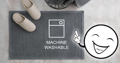 machine washable cotton mats