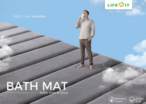 Feels like Heaven - Lifewit Memory Foam Bath Mat