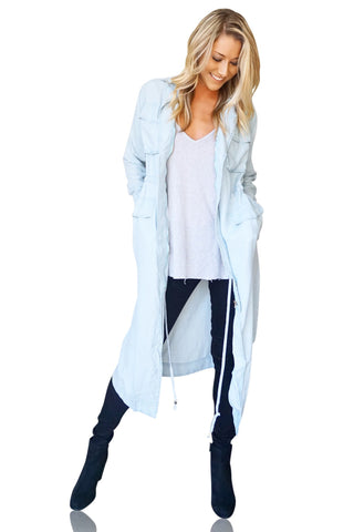 Chad Chambray Trench