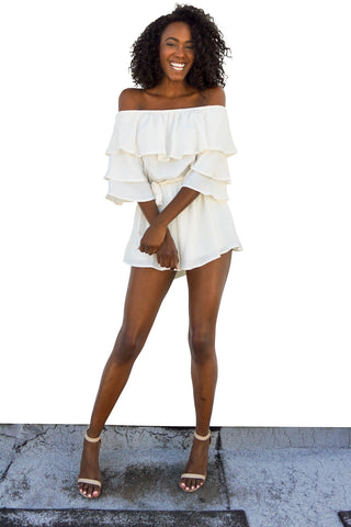 Want You Back Ruffle Romper