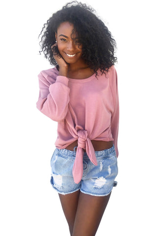 Knot It Sweatshirt (Avail. in Deep Pink or Black)