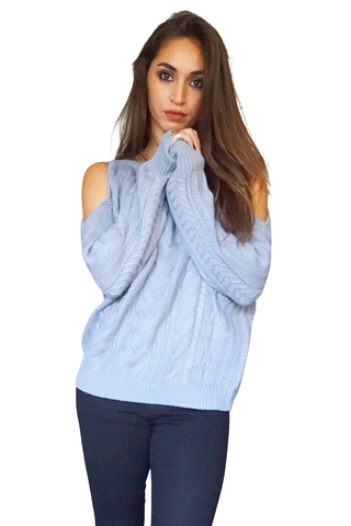 James Cold Shoulder Sweater