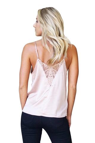 Making Me Blush Lace Tank