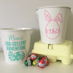 NEW! PERSONALISED EASTER BUCKET DECAL
