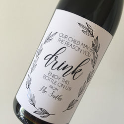 Personalised TEACHER WINE/ALCOHOL LABEL
