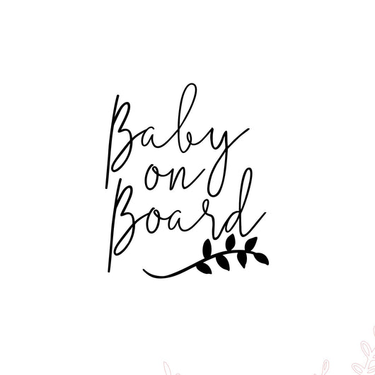 BABY ON BOARD CAR DECAL - LAUREL