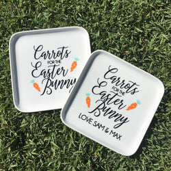 NEW! CARROTS FOR THE EASTER BUNNY PLATE
