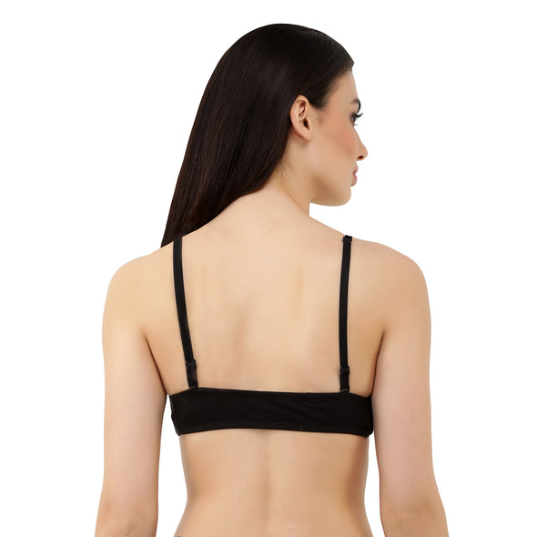 Switcher Black Bra - Cotton, Wire Free