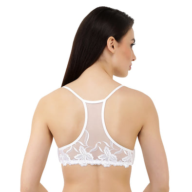 White Lace | Detachable Racer Back