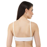 Switcher White Bra - Cotton, Wire Free
