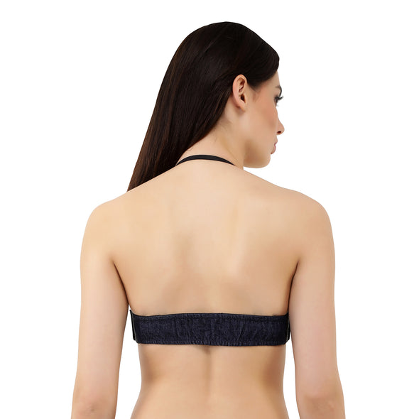 Ink Denim | Switcher Bra + Detachable Back