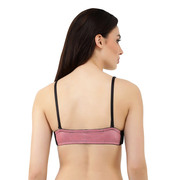 Pink Faux Leather | Switcher Bra + Detachable Back