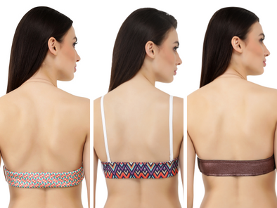 Triple Threat: Switcher Bra + 3 Detachable Backs (2 Digital Prints, 1 Faux Leather)