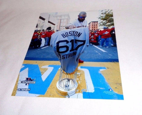2013 Boston Strong Red Sox Jonny Gomes Picture 8x10 Marathon 617 Jersey Trophy