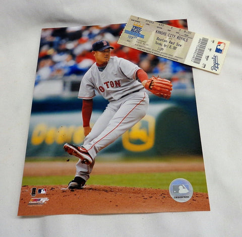 Boston Red Sox Daisuke Matsuzaka 2007 MLB Debut Ticket Picture Photo 8x10 Lot