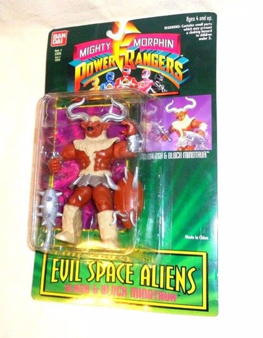 1994 Bandai Mighty Morphin Power Rangers Evil Space Alien Minotaur MOC Carded