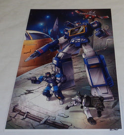G1 Transformers Decepticon Soundwave Rumble Ravage Cybertron Poster 11x17
