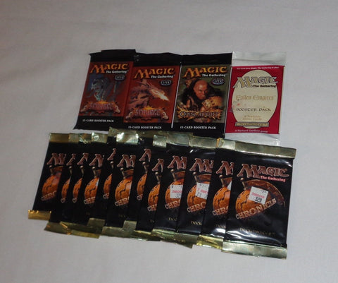 Magic the Gathering Mixed Booster Foil Pack 16 Lot Scourge Onslaught Chronicle