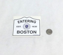 Boston City Street Road Sign Logo Bumper Sticker Decal FREESHIPPING
