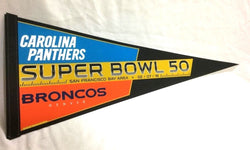 2015 Superbowl 50 Duel Pennant Denver Broncos Carolina Panthers FREESHIP