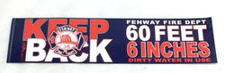 Boston Fire Dept Fenway House Bumper Sticker Decal 10x3 Red Sox Bullpen Closer