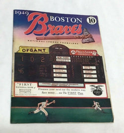 1949 Boston Braves New York Giants Program Scorecard Lineup Unscored Mint