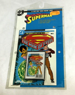 1986 DC Comics Superman The Man Of Steel Audio Theater Cassette Tape #1 Set